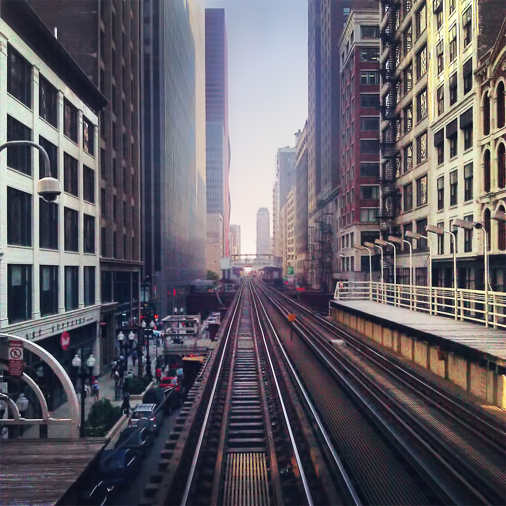 Brown Line on Wabash Ave Print