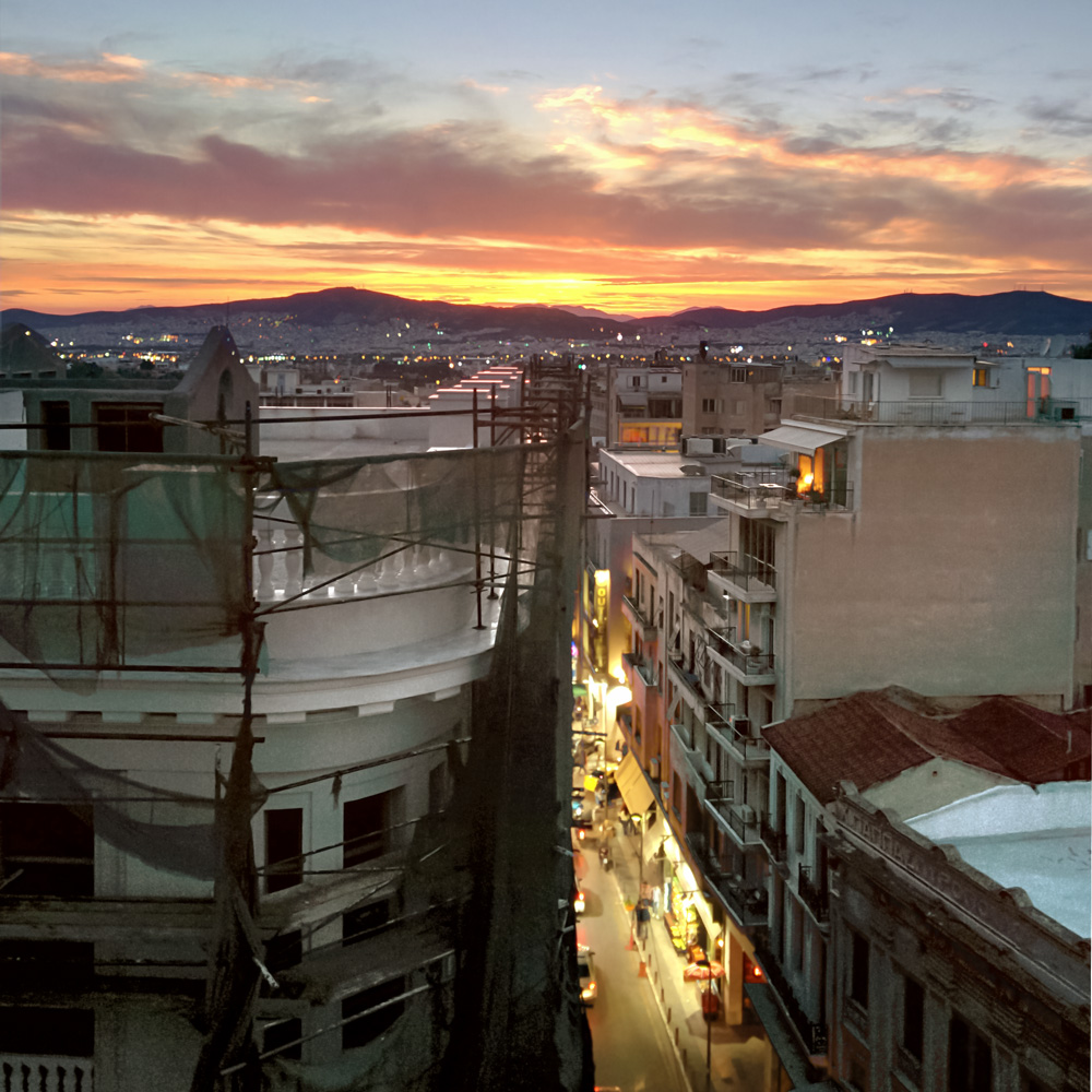 Sunset - Athens, Greece Print
